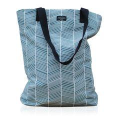 Aspegren-bag-herringbone-petrol canvas bag www. Shabby Vintage, Herringbone, Diaper Bag, Lifestyle, Canvas, Grey, Blue, Clothes, Shopping