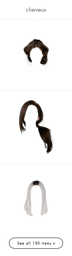 """""""cheveux"""" by cmmpany ❤ liked on Polyvore featuring beauty products, haircare, hair styling tools, hair, doll hair, wigs, blonde hair, doll parts, dolls and hairstyles"""