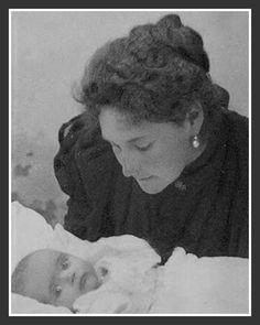 Alexandra with baby Maria.