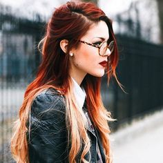 New Hair Color Orange Blonde Red Ombre Ideas Onbre Hair, Hair Dos, Cheveux Oranges, Best Ombre Hair, Red Ombre, Ombre Hair Color, Red Blonde Ombre Hair, Blonde Color, Grunge Hair