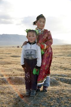 Sisters / Mongolia by Ron Gould