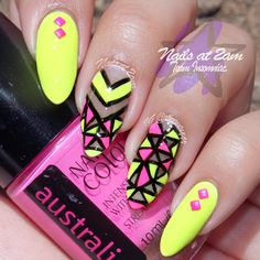 NOTD: Neon Cut-Outs