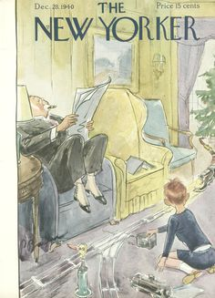The New Yorker - Saturday, December 28, 1940 - Issue # 828 - Vol. 16 - N° 46 - Cover by : Perry Barlow