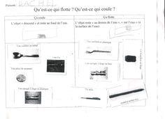 Flotte/coule classe de GS école maternelle Papus Toulouse - MathéSciences31