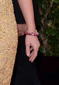 Emily Blunt added a colorful bit of shine with this jeweled Lorraine Schwartz bracelet