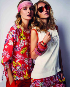 Lively, bright and radiantly beautiful: our MIAMI VICE collection serves up a sparkling style cocktail for high spirits in summer. Miami Vice, Floral Tops, Spring Summer, Shirts, Blouse, Womens Fashion, Uni, Beautiful, Collection