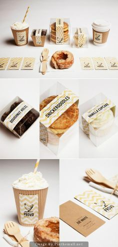 Great packaging and branding. Bakery Branding, Bakery Packaging, Food Branding, Cookie Packaging, Food Packaging Design, Brand Packaging, Branding Design, Sandwich Packaging, Packaging Ideas