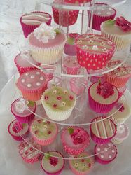 These cute pink themed cupcakes will light up the face of any birthday girl
