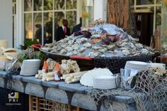 Oyster Bar with nautical decor.