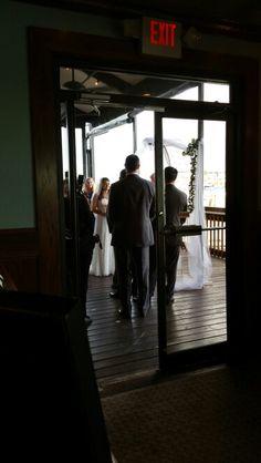 Ceremony on Patio Patio, Concert, House, Terrace, Porch, Recital, Haus, Concerts, Home