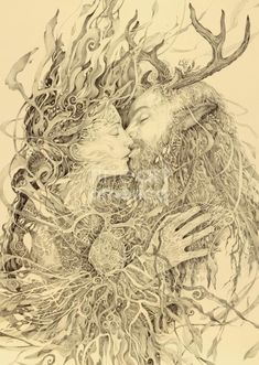 The Goddess and Cernunnos. As above, so below.