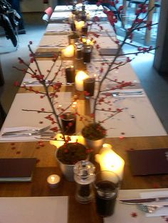 christmas table decorations at the table restaurant soutwark by john welshs photos via flickr - Restaurant Christmas Decorations
