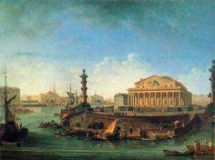 Фёдор Алексеев. вид на биржу и Адмиралтейство от Петропавловской крепости.