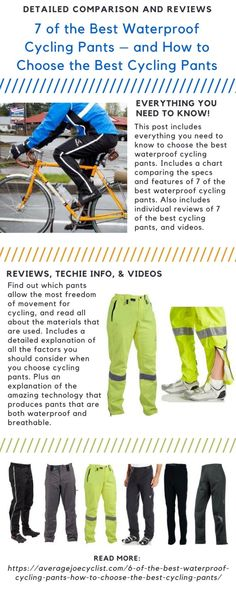 7 of the best waterproof cycling pants f21fe9a22