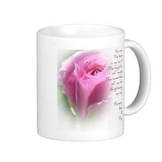 Forever and A Day Rose Poem Coffee Cup Coffee Mugs