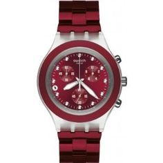 bc345aac47d Swatch Full Blooded Smoky Burgundy Chronograph Watch SVCK4054AG