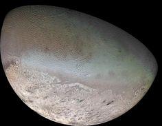 Neptunes colorful moon, Triton - A possible captured Kuiper Belt dwarf planet  js