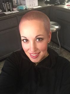 New dusty rose hair for this bald girl! I was having too much color envy after yesterday's makeover client.. Time for a change!