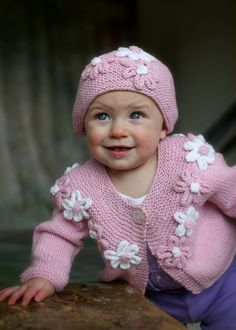 Baby Girl pink sweater. $125.00, via Etsy.