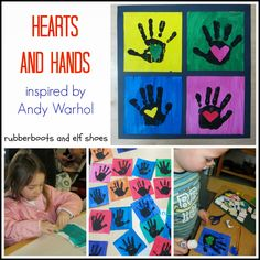 rubberboots and elf shoes: hands and hearts: an Andy Warhol art project