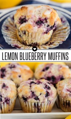 Blueberry Lemon Muffins are an easy homemade recipe, perfect for spring or Easter! Blueberry Lemon Muffins are an easy homemade recipe, perfect for spring or Easter! Homemade Blueberry Muffins, Lemon Muffins, Blueberry Lemon Recipes, Lemon Recipes Breakfast, Lemon Blueberry Cookies, Baking Muffins, Muffins With Buttermilk, Bread Baking, Healthy Lemon Desserts