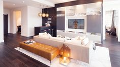 Looking for Living Space and Media Room ideas? Browse Living Space and Media Room images for decor, layout, furniture, and storage inspiration from HGTV. Dyi, Diy Décoration, White Shelving Unit, Neutral Sofa, Neutral Palette, Best Decor, Custom Sofa, Décor Boho, Entertainment Room