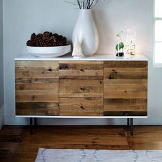 Reclaimed Wood + Lacquer Buffet | west elm