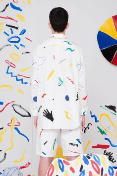 Pop Art by Paraiso Spring/Summer 2014 Pop Art Fashion, Fashion Prints, Mens Fashion, Fashion Design, Fashion Outfits, Streetwear, Fashion Project, How To Pose, Textile Design