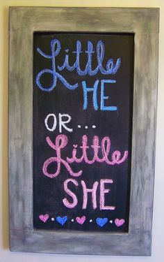 Gender Reveal Party: Pregnancy Chalkboard