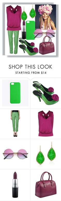 """""""Green Purple Rose"""" by egordon2 ❤ liked on Polyvore featuring C6, Dolce&Gabbana, Cédric Charlier, Plein Sud, ZeroUV, Anne Sisteron, MAC Cosmetics, Dasein, purple and GREEN"""