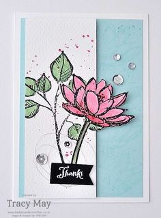 Remarkable You from Stampin' Up! UK Demonstrator Tracy May.  (Pin#1: Flowers: SU-Fussycut..  Pin+: Thanks).