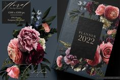 Velveteen Moody Floral Clip Art Graphics Collection – Avalon Rose Design