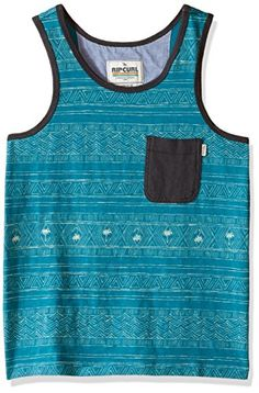 Rip Curl Big Boys Cabana Boys Short Sleeve Tank AquaAqua XLarge >>> Visit the image link more details. Note:It is affiliate link to Amazon.
