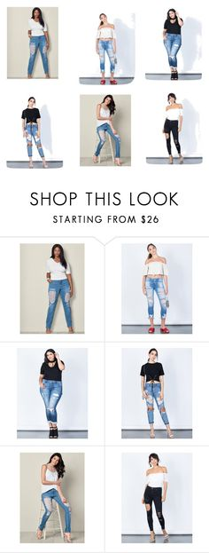 """""""Womens Ripped Jeans"""" by euresigr on Polyvore featuring Venus, Cello, Eunina and Signature 8"""