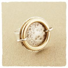 Oxidized Gold Collection Ring