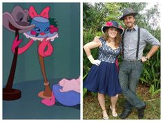Johnny Fedora and Alice Bluebonnet from the old Disney classic cartoon. Nathan and I wore this to Dapper Day 2014 at the Magic Kingdom.