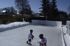 Spring Training March 22nd, 2015, on the Winchester Invitational Backyard Ice Hockey Rink.