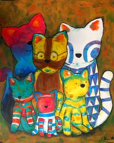 Colored Cats by KiDa90