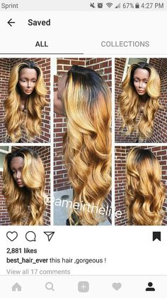 blonde sew ins hairstyles with color We are looking for active pinners to colaborate on some of our hair and beauty boards. Must post daily to join, comment on latest pin if you're interested Shop Now: www. Love Hair, Gorgeous Hair, Weave Hairstyles, Pretty Hairstyles, Curly Hair Styles, Natural Hair Styles, Hair Affair, Along The Way, Human Hair Wigs