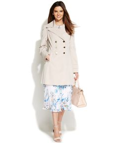 Ivanka Trump Water-Resistant Double-Breasted Trench Coat - Coats - Women - Macy's