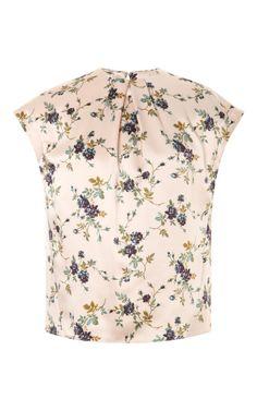 Shop Printed Jacquard Silk-Satin Top by Rochas Now Available on Moda Operandi