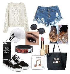 """""""Untitled #24"""" by kiaraloveh on Polyvore featuring Vans, adidas, Venus and Clarins"""