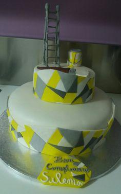 Una mia realizzazione torta geometrica