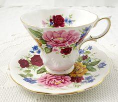 "Royal Albert Random Harvest Series tea cup and saucer ""Somerset"""