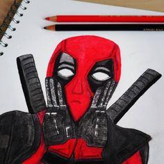 Deadpool Bunstiftzeichnung - ein Video dazu gibt es morgen auf meinem YouTube Kanal #deadpool #deadpool2 #deadpoolfanart #deadpoolfan #art…