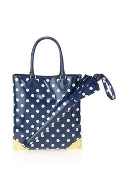 SO practical. Cute bag and you'd never forget your umbrella!