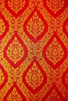 Indian style fabric, I'd love to incorporate this in her curtains or even possible a wallpaper idea! Red gold