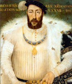 June King Henry II of France suffered a mortal wound in a jousting tournament and died 11 days later. Portrait of Henry II,King of France Mode Renaissance, Costume Renaissance, Renaissance Portraits, Renaissance Fashion, Historical Costume, Historical Clothing, Historical Dress, Elisabeth I, 16th Century Fashion