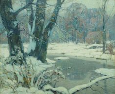 """Silvered Brook,"" John Fabian Carlson, oil on canvas, 25 1/4 x 30 1/2"", Vose Galleries."