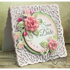 Image result for Heartfelt Creations Dies+Stamps Blushing Rose Swirls